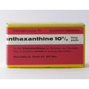 Canthaxanthine 10% poudre 10 g pour canaris