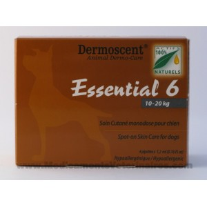 Dermoscent Essential 6 chien de 10 à 20 kg - 4 pipettes