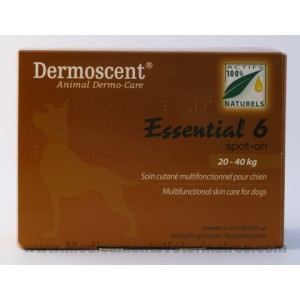 Dermoscent Essential 6 chien de 20 à 40 kg - 4 pipettes